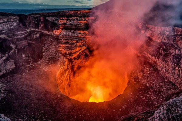 The Masaya Volcano, near Managua, Nicaragua